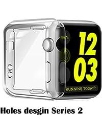 Apple Watch 42mm Series 2 2016 Funda, TPU Proteger Completamente Case Cover Funda Bumper para Apple Watch 42mm Series 2 2016, [Ultra-delgado] [Shock-Absorción] [Anti-Arañazos] [Transparente]