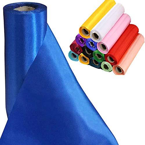 Tts 29cmx20m (royal blue) rotolo di raso tessuto satinato runner da tavolo elegante coprisedia fiocchi matrimonio poltrona fiocchi bomboniere