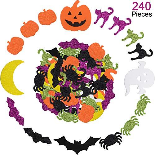 ckers Verschiedene Stile Schaum Stickers Selbstklebende Schaum Craft Stickers für Halloween Party Dekoration (240 Stücke) ()