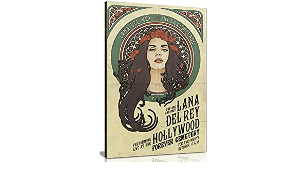 Lana Del Rey Star Canvas Wall Art Picture Print 36x24in