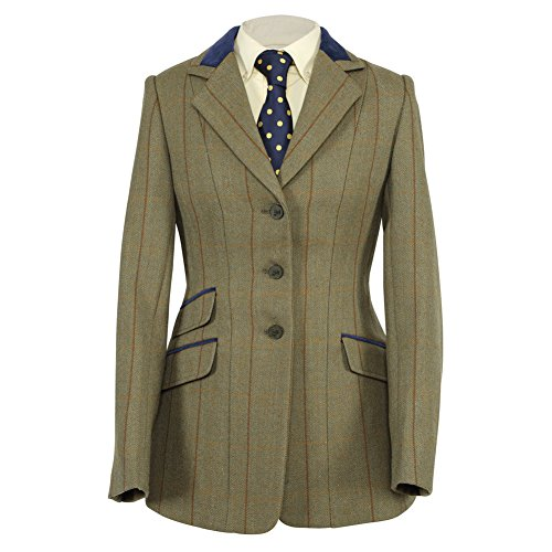 "Shires Huntingdon Ladies Show Jacket 40"" Green/Copper Check"