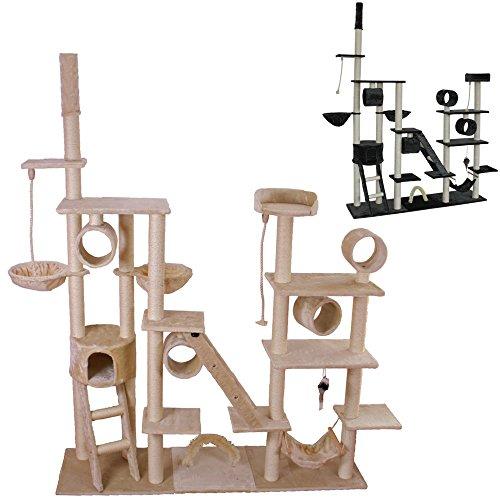 Produktabbildung von TecTake Luxus Katzenkratzbaum Trauminsel -diverse Farben- (Beige)