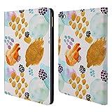 Head Case Designs Offizielle Kristina Kvilis Gold Gemischte Muster Brieftasche Handyhülle aus Leder für iPad Air 2 (2014)