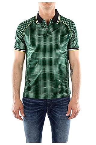 Polo Prada Homme Coton Vert, Noir, Jaune et Blanc UJN213VERDE