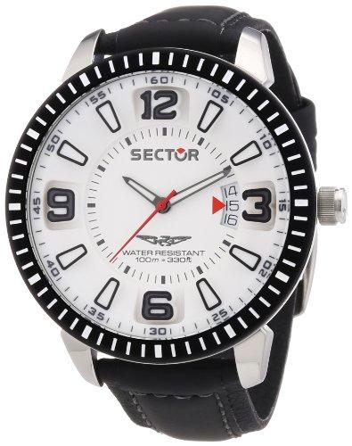 Sector R3251119006 - Reloj analógico de Cuarzo para Hombre con Correa de Piel, Color Negro