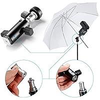 Neewer® Universale in Nero Fissaggio per Flash Speedlite con Testa Orientabile e Foro di Montaggio per Ombrello e Filettatura 1/4