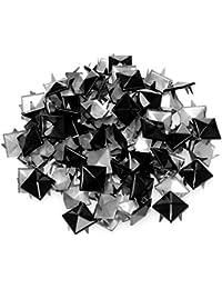 4sold (TM) 100en acrylique noir Bullet Spike Cône Clous, perles, à coudre sur, bâton de colle, sur, DIY Vêtements, Sacs et chaussures ornements