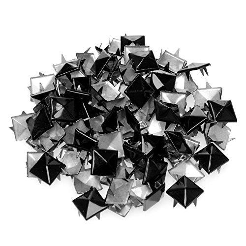 4sold (TM) 100Acryl Schwarz Bullet Spike Kegel Nieten, Perlen, Nähen auf, Kleber auf, Stick auf, DIY Kleidungsstücke, Taschen und Schuhe Verzierung -