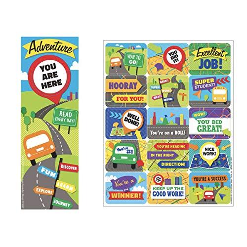 Learning Adventure 120 Success Sticker & 36 Lesezeichen - positive Botschaften - Excellent Well Done Teacher Klassenzimmer Belohnungen Motivation - Schule Botschaft Blättern