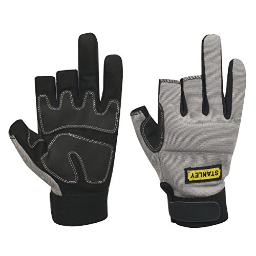 3-finger-framer Glove (Stanley Performance 3-Finger Framer Gloves Grey by Stanley)