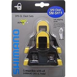 Shimano SM-SH11 - Par Calas Sm-Sh11 68, color amarillo