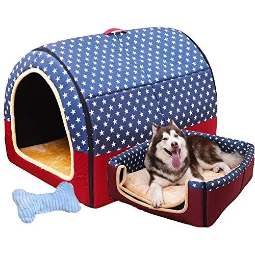 LVAB Cama Mascotas Perro Grande Casa De Perro Invierno