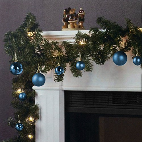 Ghirlanda di Natale 270cm 180 rami 20 luci Ghirlanda luminosa