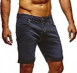 LEIF NELSON Herren Jeans Shorts LN1397; W36; Dunkel Blau