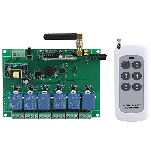 RETYLY 110-240V 6 Kanal RF Relais modul Platinen steuerungs schalter 6 Kanal RF Empf?nger kontroller Hohe Stabilit?t 6 Kanal Relais modul -