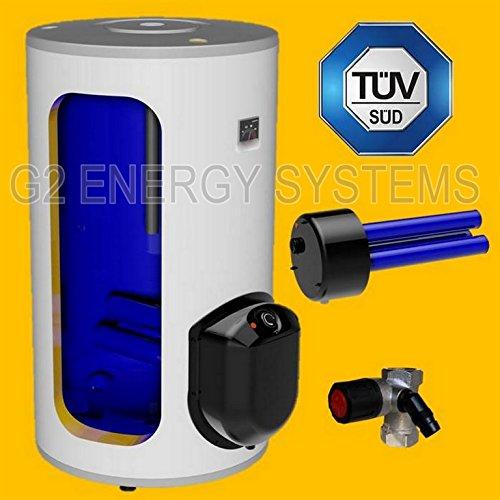 160 Liter elektrischer Warmwasserspeicher, Standspeicher mit integrierter Keramikheizpatrone 2,2 kW Leistung