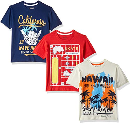 Cherokee by Unlimited Boys' Plain Regular Fit T-Shirt (Pack of 3)(276884783_Assorted_13Y)