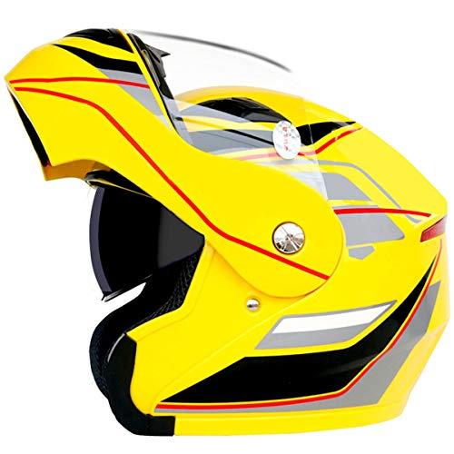 Antibeschlag Doppelscheibe Jethelm Elektro Motorrad Bluetooth Helm Integralhelm,J-L=59~60cm ()