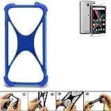 K-S-Trade Handyhülle für Archos Diamond 2 Note Silikon Schutz Hülle Cover Case Bumper Silikoncase TPU Softcase Schutzhülle Smartphone Stoßschutz, blau (1x)