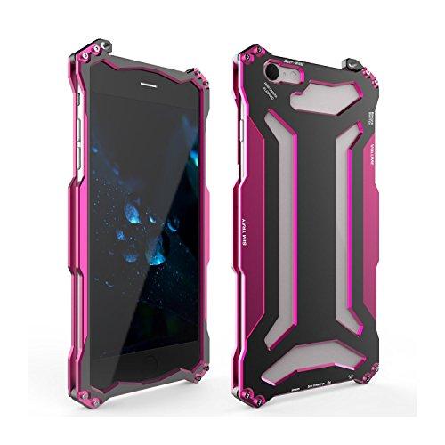 iPhone 7 plus Hülle case, Eastcoo Alloy Aluminium Metall Slate Bumper Militär starkes Hybrid Heavy Duty Schutz Cover Handyhülle Fall Gehäuse Stoßfest hartes Hard Hülle Tasche cover für iPhone 7 plus Rose