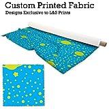 L&S PRINTS Blau/Lime Sterne & Planeten Print Design