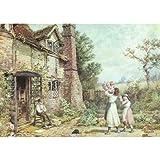 """Casas de campo en Amersham, Myles Birket Foster, Papel artístico satinado de 255 g/m², Image size: 330mm x 235mm (13"""" x 9.25"""")"""
