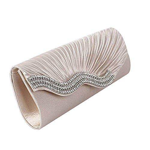 HT  Evening Handbags, Damen Clutch Weiß