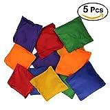 TOYMYTOY 5pcs Colorful Beanbags para los niños nylon juguete de los bolsos de haba