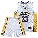 Pantaloncini da basket da uomo Jersey James 23 Kobe 24 Bryant 8 Per tifosi Lakers Jersey, numero palla ricamato e logo, maglia da basket sportiva senza maniche maglietta attrezzatura da basket-23 Whit