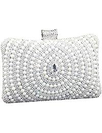 SSMK Frauen Perlen Perlen Rhinestone Clutch Bag Elegante Designer Damen Abendtasche