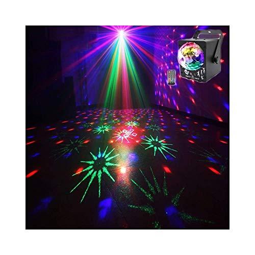 ACZZ Rotate Stage Party Ball Licht, Multi Color Cristal Stage Ball Effekt Projektor, Fernbedienung Musik aktiviert für Home DJ Pub Bar Club -607,Schwarz -