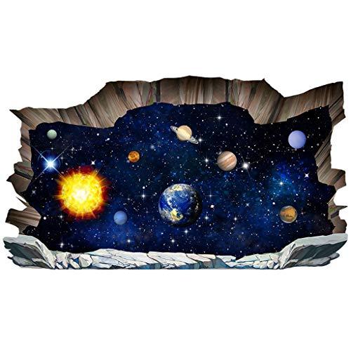 e Wander Planeten Wandaufkleber, Boden Aufkleber Schlafzimmer Wohnzimmer Deckendekoration Aufkleber Marokkanische Badezimmer Fliesenmuster Abziehbild (F) ()