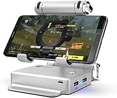 GameSir X1 BattleDock FPS PUBG Klavye ve Mouse Dönüştürücü Oyun Standı iOS / Android ile Uyumlu - Silver