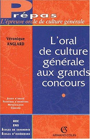 L'épreuve culture générale A, oral de concours