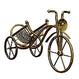 F Fityle Portabottiglie per Vino, Portabottiglie Espositori per Posate in Metallo Biciclette Erogatore Forma Decorazione della Casa