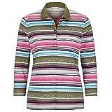 Rabe Poloshirt mit Mustermix und Samtdetails - 44