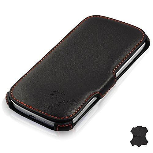 Manna Samsung Galaxy S3 Hülle Case Leder Tasche Etui Schutzhülle|  Feinstes Nappaleder