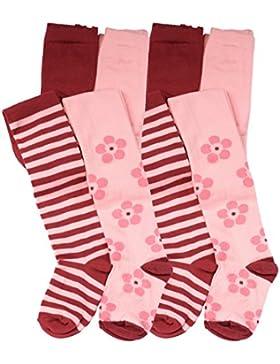 2'er oder 4'er Set Kinder Mädchen Strumpfhosen, Strickstrumpfhose aus Baumwolle - Cottonprime