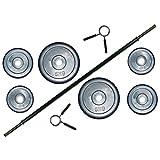 Aerobic Langhantel-Set Gummi - L / Pump Set 17,5 kg