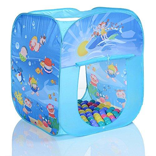 LCP Kids Pop Up Spielzelt Kinderzelt Ocean Kinder Spielhaus mit 100 Bällebad Bällen