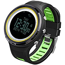 SUNROAD FR800NB Digital Outdoor Sports Men Watch -5ATM Waterproof Backlight Compass Pedometer Thermometer Relogio Clock Green