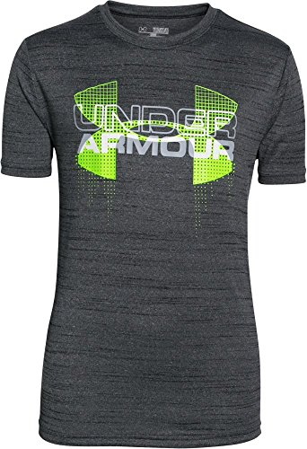 T-shirt Under Armour Kinder (Under Armour Jungen Fitness T-Shirt und Tank Big Logo Hybrid Short Sleeve T, Black, L, 1272006-2)