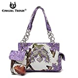 Western Pistol Camouflage Shoulder Bag Purple