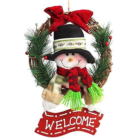V-SOL Corona Decorativa de Navidad Colgante Guirnalda para Puerta Modelo2