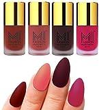 #1: MI Fashion Matte Nail Polish Pack of 4(9.9 Ml Each)