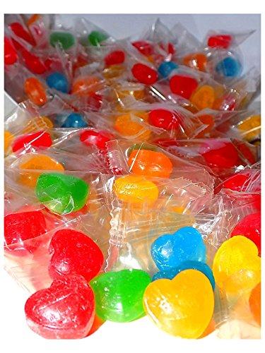 Preisvergleich Produktbild Herz Bonbons 300Stk 1kg bunt ideal als Gastgeschenk oder Candybar