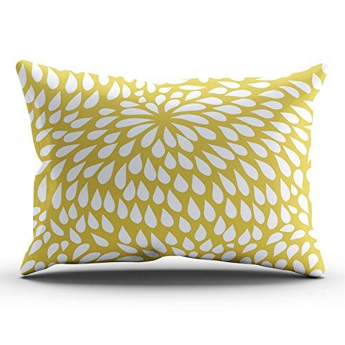 Hoooottle Funny Abstraktes Paisley Blumen Muster Kissenbezug Home Style Dekorativer Überwurf-Kissenbezug Kissen Case Square Größe 45,7x 45,7cm Zoll Eine Seite Cape Cod 12