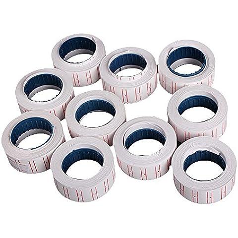Rollos de etiquetas de precio adhesivas para etiquetadora MX-5500, 10unidades