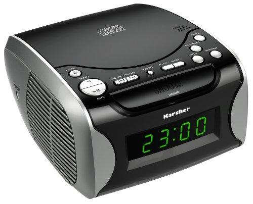 Karcher UR 1306 UKW Radiowecker mit CD schwarz Aux-In