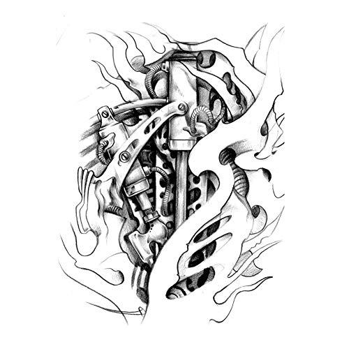 LBBMBC Roboter Temporäre Tätowierung Aufkleber Herz wasserdichte Schönheit Hohe Qualität Henna Falsche Tätowierung Body Art Flash Tattoo Sleeve